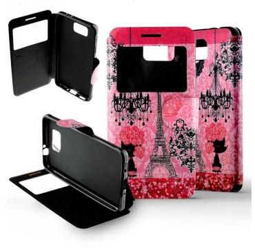 Etui Samsung Galaxy Alpha Folio Paris Luxe
