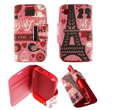 Etui Samsung Galaxy S i9000 Folio Pink Paris