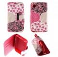 Etui pour Samsung Galaxy S i9000 Folio Pink Flowers