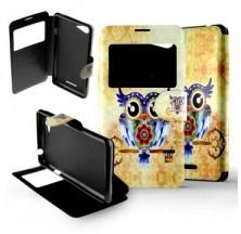 Etui Sony Xperia E2 / E3 Folio Hibou clé