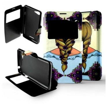 Etui pour Sony Xperia E2 / E3 Folio Natte Femme