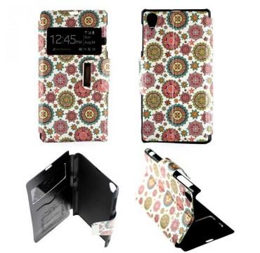 Etui pour Sony Xperia Z1 Folio Fractal baroque