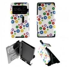 Etui Sony Xperia Z2 Folio Petites fleurs couleur