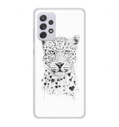 Coque en silicone Samsung Galaxy A52 - BS Love leopard