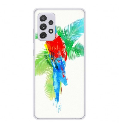 Coque en silicone Samsung Galaxy A52 - RF Tropical party