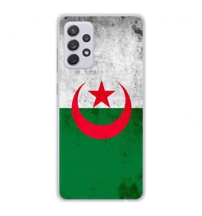 Coque en silicone Samsung Galaxy A52 - Drapeau Algérie