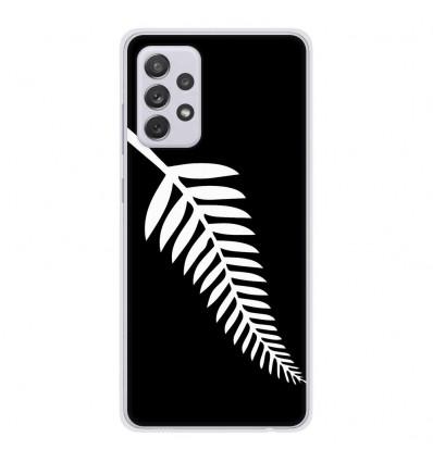 Coque en silicone Samsung Galaxy A52 - Drapeau All-black