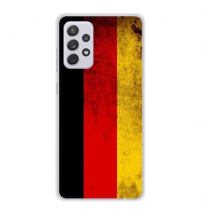 Coque en silicone Samsung Galaxy A52 - Drapeau Allemagne