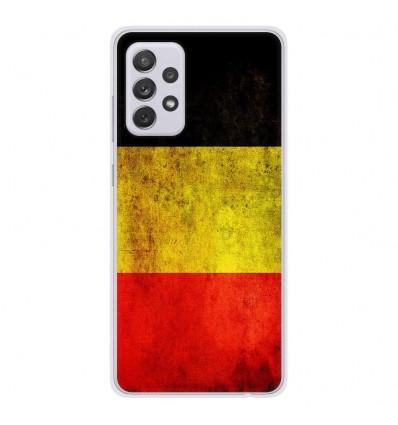 Coque en silicone Samsung Galaxy A52 - Drapeau Belgique