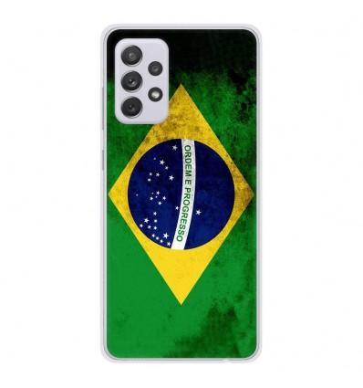Coque en silicone Samsung Galaxy A52 - Drapeau Brésil
