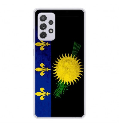 Coque en silicone Samsung Galaxy A52 - Drapeau Guadeloupe