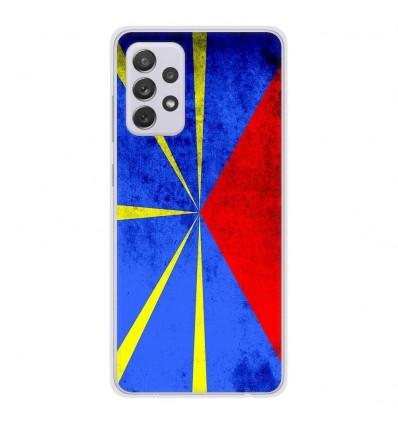 Coque en silicone Samsung Galaxy A52 - Drapeau La Réunion