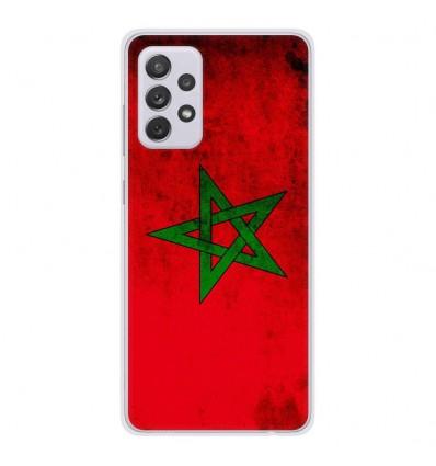 Coque en silicone Samsung Galaxy A52 - Drapeau Maroc