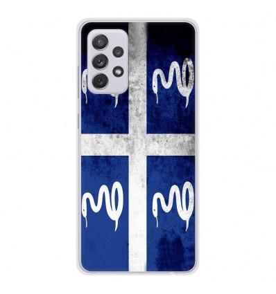 Coque en silicone Samsung Galaxy A52 - Drapeau Martinique