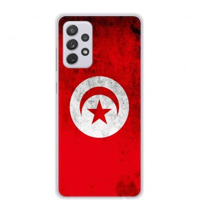 Coque en silicone Samsung Galaxy A52 - Drapeau Tunisie