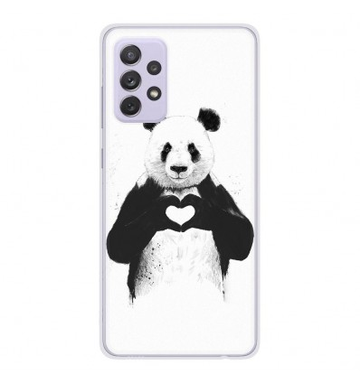 Coque en silicone Samsung Galaxy A72 - BS Love Panda