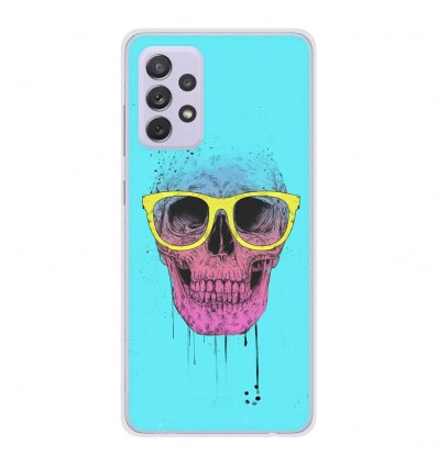 Coque en silicone Samsung Galaxy A72 - BS Skull glasses