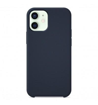 Coque Apple iPhone 12 Mini Silicone Soft Touch - Bleu nuit