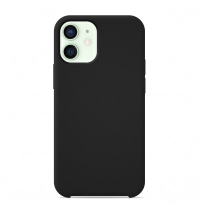 Coque Apple iPhone 12 Mini Silicone Soft Touch - Noir