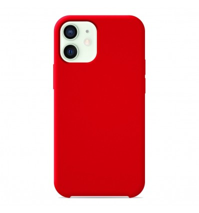 Coque Apple iPhone 12 Mini Silicone Soft Touch - Rouge