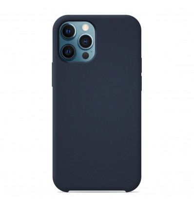 Coque Apple iPhone 12 Pro Max Silicone Soft Touch - Bleu nuit