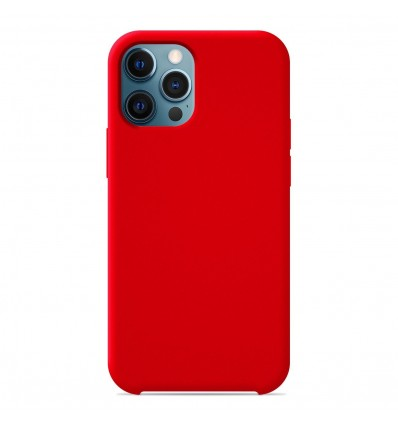 Coque Apple iPhone 12 Pro Max Silicone Soft Touch - Rouge