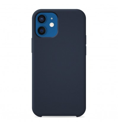 Coque Apple iPhone 12 Silicone Soft Touch - Bleu nuit