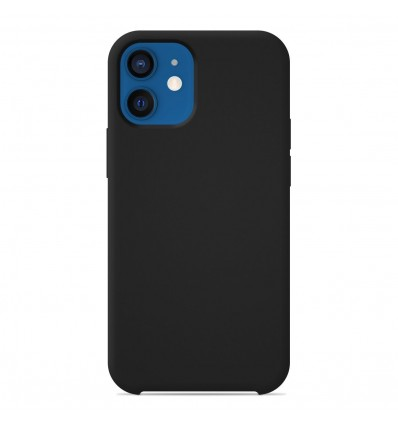 Coque Apple iPhone 12 Silicone Soft Touch - Noir