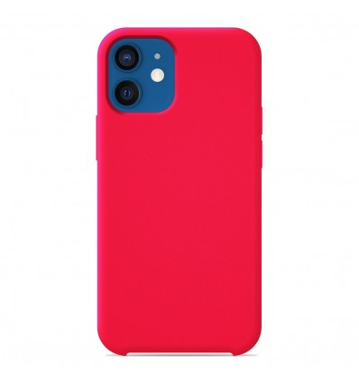 Coque Apple iPhone 12 Silicone Soft Touch - Rose