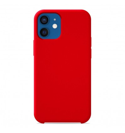 Coque Apple iPhone 12 Silicone Soft Touch - Rouge