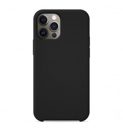 Coque Apple iPhone 12 Pro Silicone Soft Touch - Noir