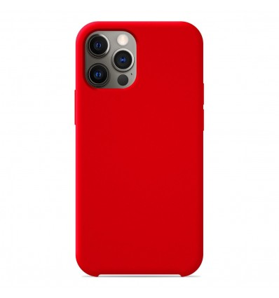 Coque Apple iPhone 12 Pro Silicone Soft Touch - Rouge