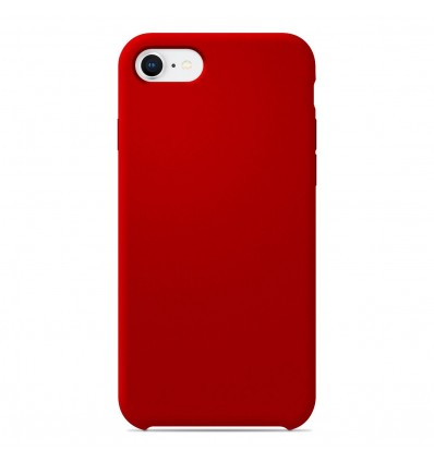 Coque Apple iPhone 7 Silicone Soft Touch - Rouge