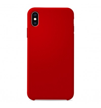 Coque Apple iPhone XS Max Silicone Soft Touch - Rouge