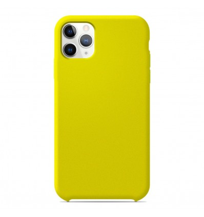Coque Apple iPhone 11 Pro Max Silicone Soft Touch - Jaune