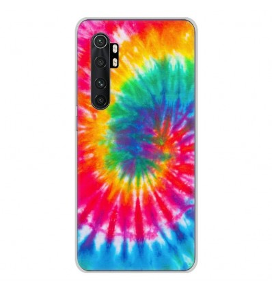 Coque en silicone pour Xiaomi Mi Note 10 lite - Tie Dye Spirale