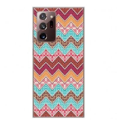 Coque en silicone pour Samsung Galaxy Note 20 Ultra - Zigzag Ethnique