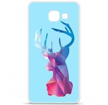 Coque en silicone pour Samsung Galaxy A3 2016 - Cerf Hipster Bleu