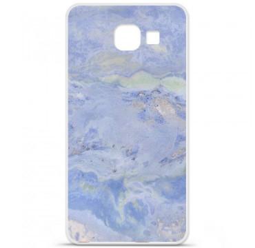 Coque en silicone Samsung Galaxy A3 2016 - Marbre Bleu
