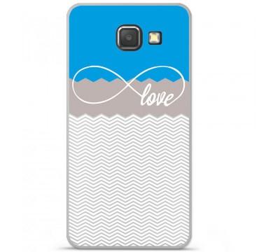 Coque en silicone Samsung Galaxy A3 2016 - Love Bleu