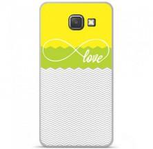 Coque en silicone Samsung Galaxy A3 2016 - Love Jaune