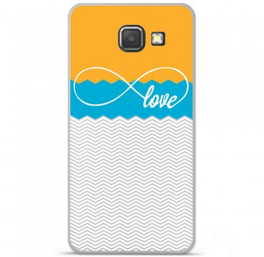 Coque en silicone pour Samsung Galaxy A3 2016 - Love Orange