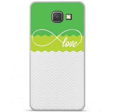 Coque en silicone Samsung Galaxy A3 2016 - Love Vert