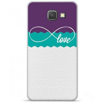 Coque en silicone pour Samsung Galaxy A3 2016 - Love Violet