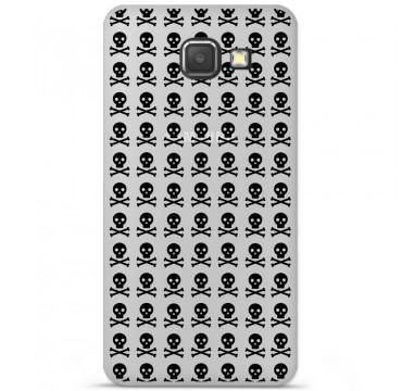 Coque en silicone pour Samsung Galaxy A3 2016 - Skull Noir
