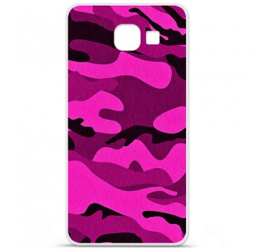 Coque en silicone pour Samsung Galaxy A3 2016 - Camouflage rose