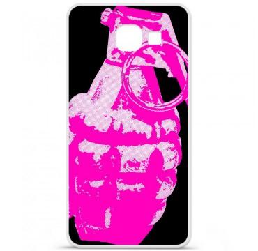 Coque en silicone Samsung Galaxy A3 2016 - Grenade rose