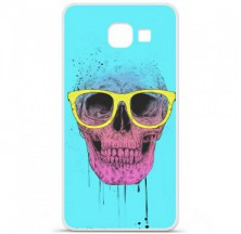 Coque en silicone Samsung Galaxy A3 2016 - BS Skull glasses