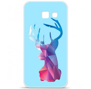 Coque en silicone pour Samsung Galaxy A5 2016 - Cerf Hipster Bleu