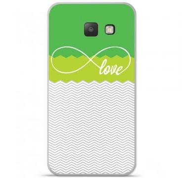 Coque en silicone pour Samsung Galaxy A5 2016 - Love Vert